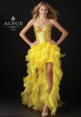 2013 Alyce Ruffled High Low Prom Dress 6043